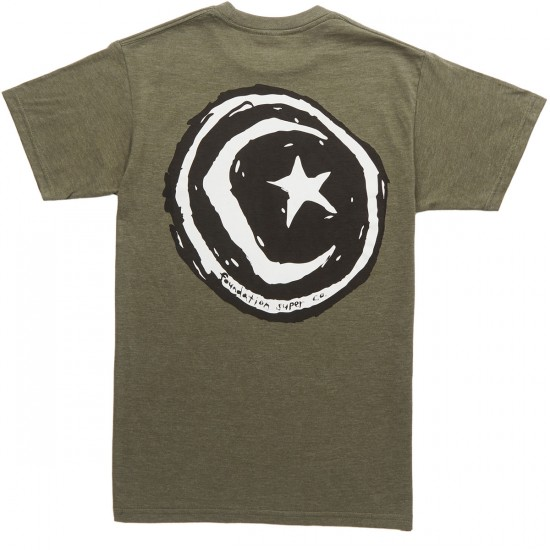 Foundation Superstar and Moon T-Shirt - Olive