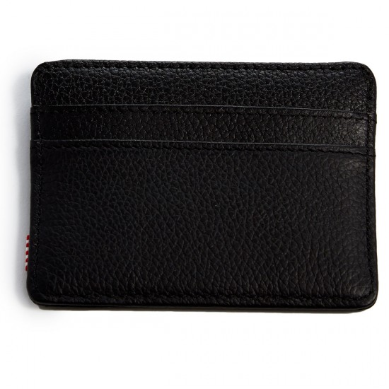 Herschel Charlie Wallet - Black Leather