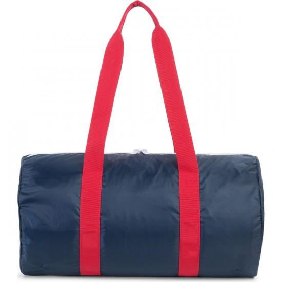 Herschel Packable Duffle Bag - Navy/Red
