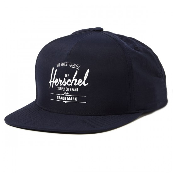 Herschel Whaler Nylon Trucker Hat - Dark Navy