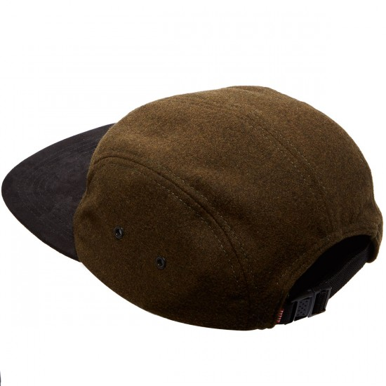 Herschel Glendale C Unstructured Five Panel Hat - Wool/Suede Moss Green