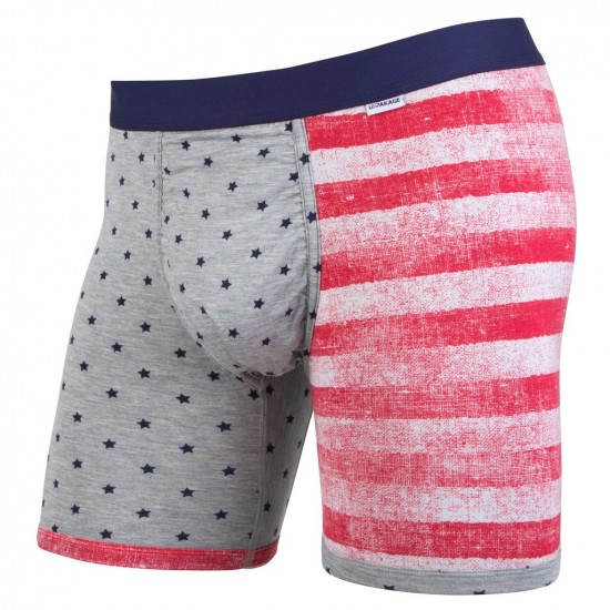 MyPakage Weekday Printed Boxer Brief - Heather Stars/Red/Navy