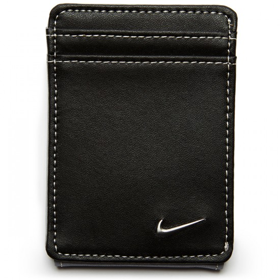 Nike Blocked Front Pocket Wallet - Black/Wolf Grey