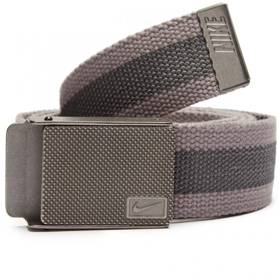 Nike Rubber Inlay Reversible Web Belt - Light Charcoal