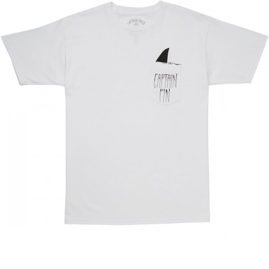 Captain Fin Shark Fin Pocket T-shirt - White