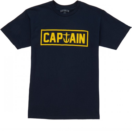 Captain Fin Naval Captain Standard T-shirt - Navy/Gold