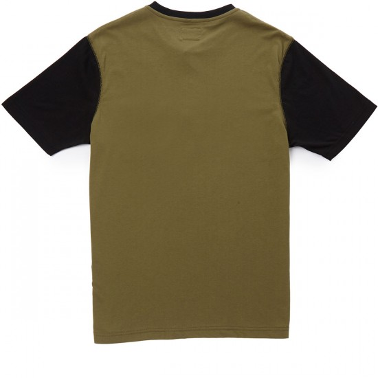 Captain Fin Cousin Eddie Henley T-shirt - Olive/Black