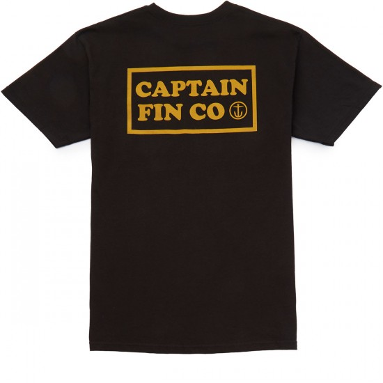 Captain Fin New Wave Pocket T-shirt - Black
