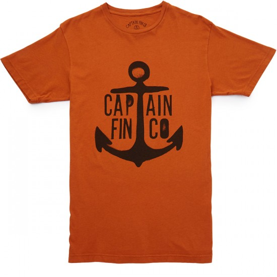 Captain Fin Anvil T-shirt - Burnt Orange