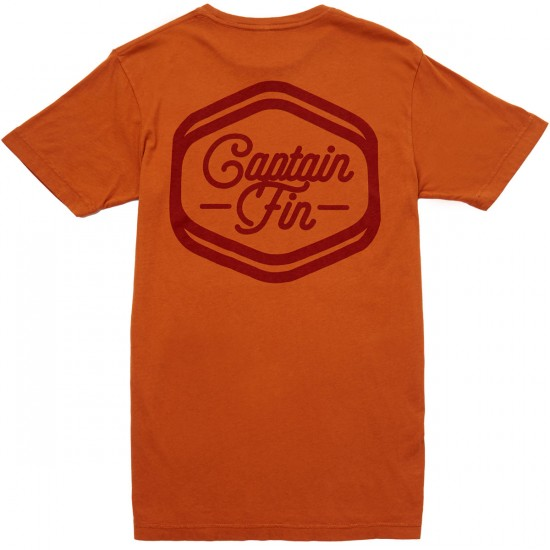 Captain Fin Solidify T-shirt - Burnt Orange
