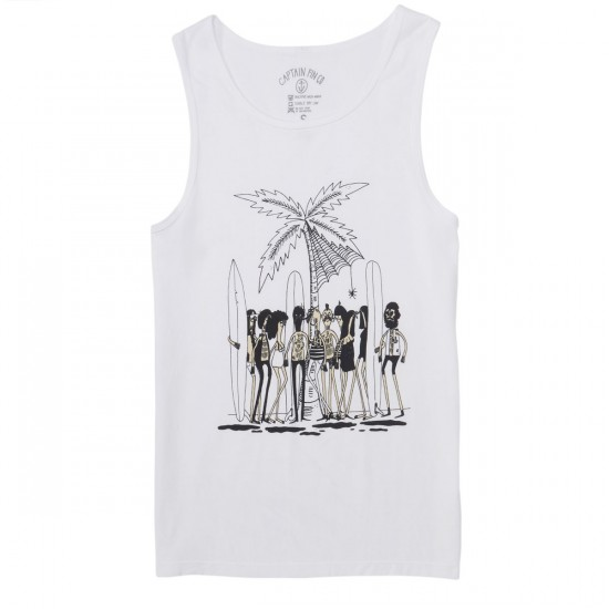 Captain Fin Howel Beach Party Tank Top - White