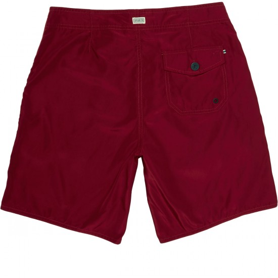 Captain Fin Pocketeer Half Breed Boardshorts - Burgundy