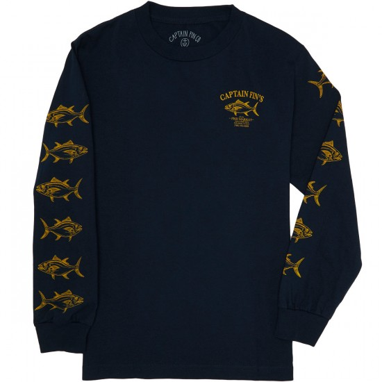 Captain Fin Fish House Long Sleeve T-Shirt - Navy