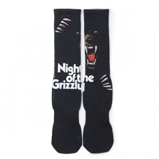 Grizzly Grip Night of the Grizzly Socks - Black