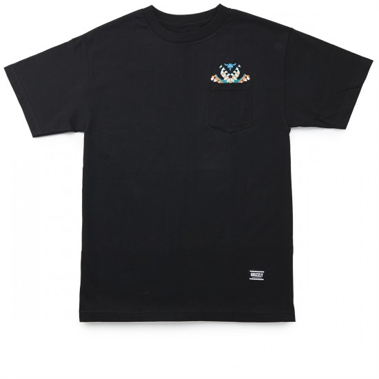 Grizzly Grip Tribe OG Bear Pocket T-Shirt - Black