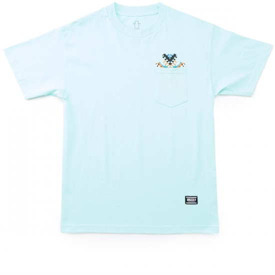Grizzly Grip Tribe OG Bear Pocket T-Shirt - Celadon