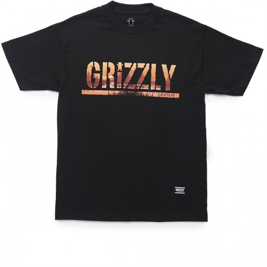 Grizzly Grip Swamp Stamp T-Shirt - Black