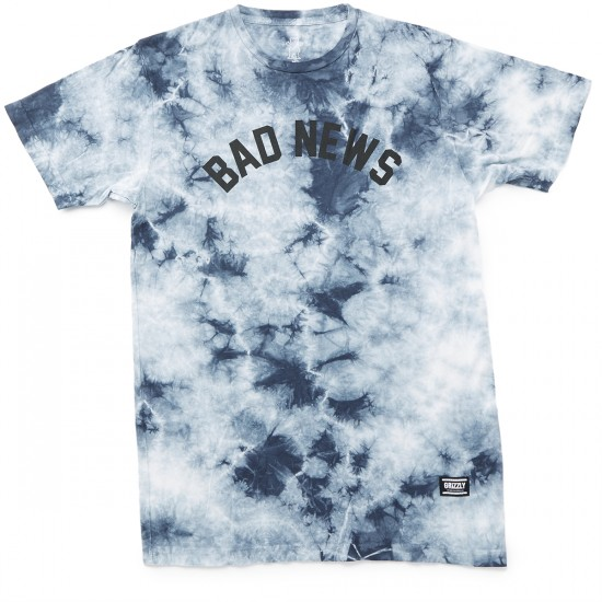 Grizzly Grip Bad News Tonal Tie Dye T-Shirt - Black