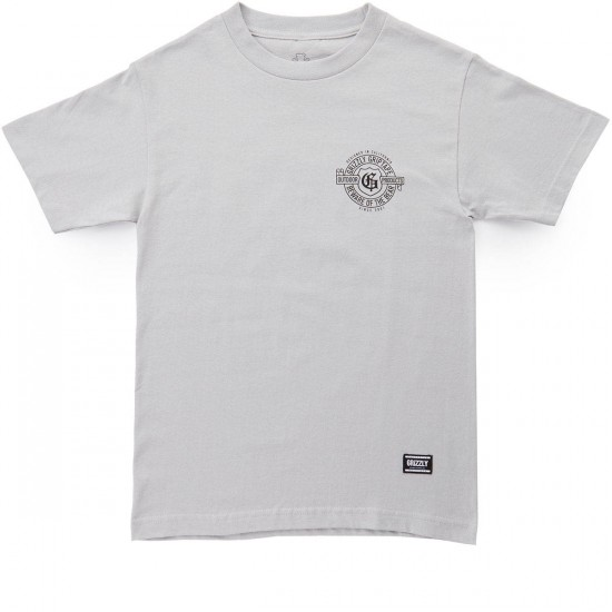Grizzly G-Script T-Shirt - Silver