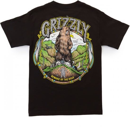 Grizzly King Of The Mountain T-Shirt - Black