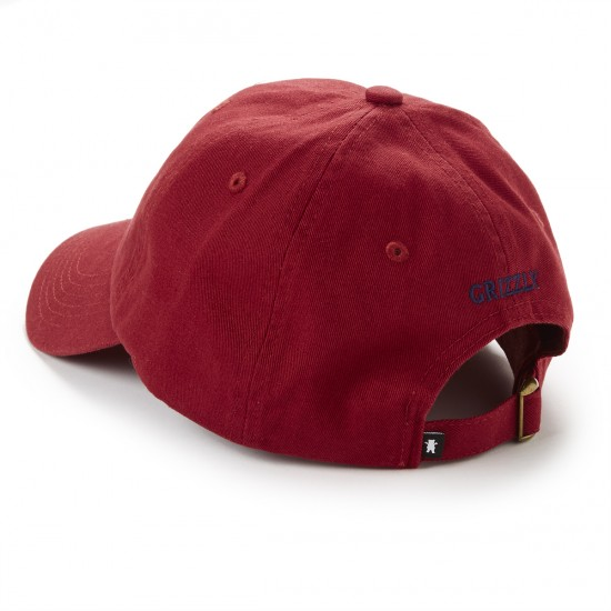 Grizzly Grip OG Dad Bear Logo Hat - cranberry