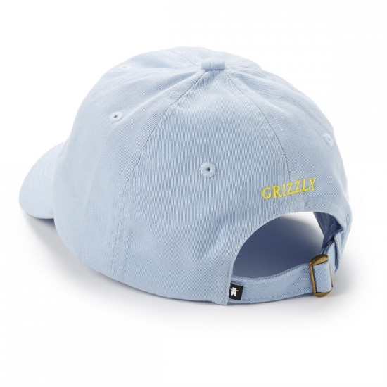 Grizzly Grip OG Dad Bear Logo Hat - light blue