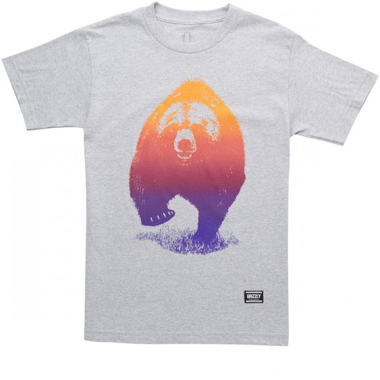 Grizzly Grizzly Skies T-Shirt - Heather Grey