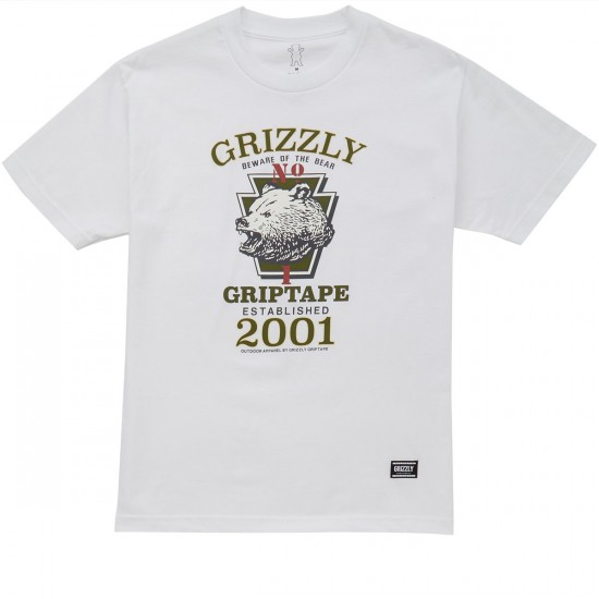 Grizzly High Mountain T-Shirt - White