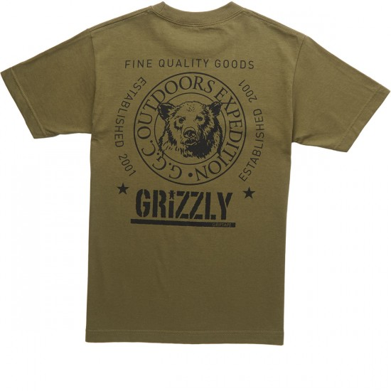 Grizzly Silver Black T-Shirt - Military