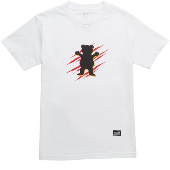 Grizzly Wound OG Bear T-Shirt - White