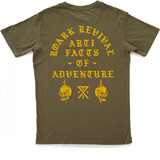 Roark Cursed Artifacts Pocket T-Shirt - Army