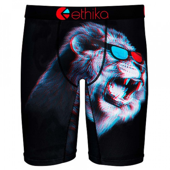 Ethika King of 3D Boxer Brief - Red/Blue