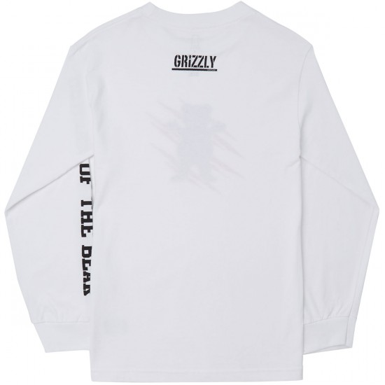 Grizzly Wound OG Bear Long Sleeve T-Shirt - White
