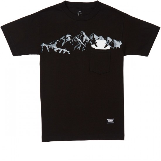 Grizzly Rescue Peak Pocket T-Shirt - Black
