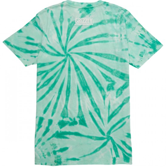 Grizzly High Winds T-Shirt - Mint Tie-Dye