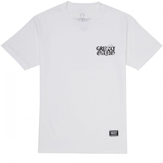 Grizzly Terror Gang T-Shirt - White