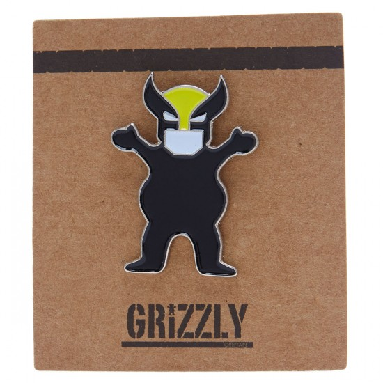 Grizzly Wolverine Ber Pin - Black