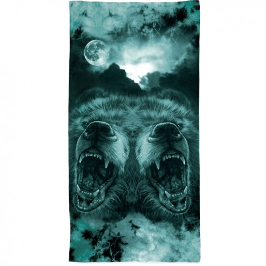 Grizzly Roar At The Moon Towel