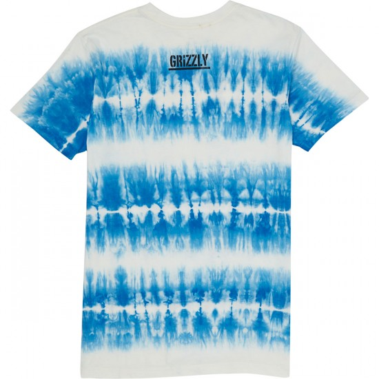 Grizzly Munchies Tie Dye T-Shirt - Blue