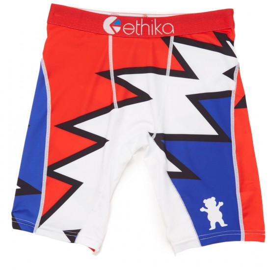 Grizzly X Ethika Grateful Boxer Brief - Red
