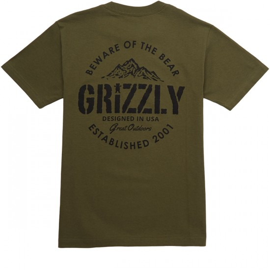 Grizzly All Terrain T-Shirt - Military Green