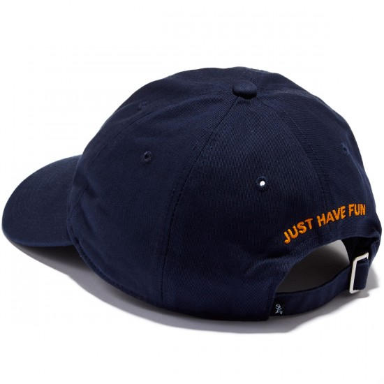 Just Have Fun Classic Skate Dad Hat - Navy/Yellow