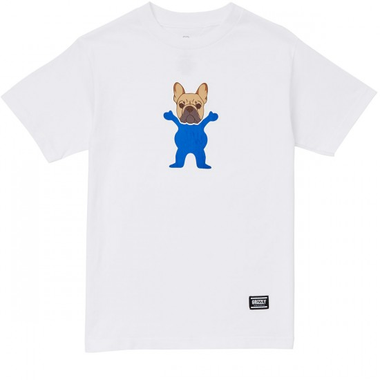 Grizzly Frenchie T-Shirt - White