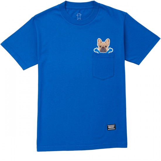 Grizzly Frenchie T-Shirt - Royal