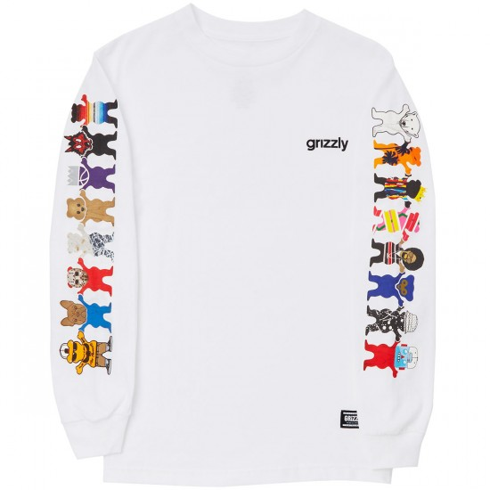 Grizzly Squad Goals Longsleeve T-Shirt - White