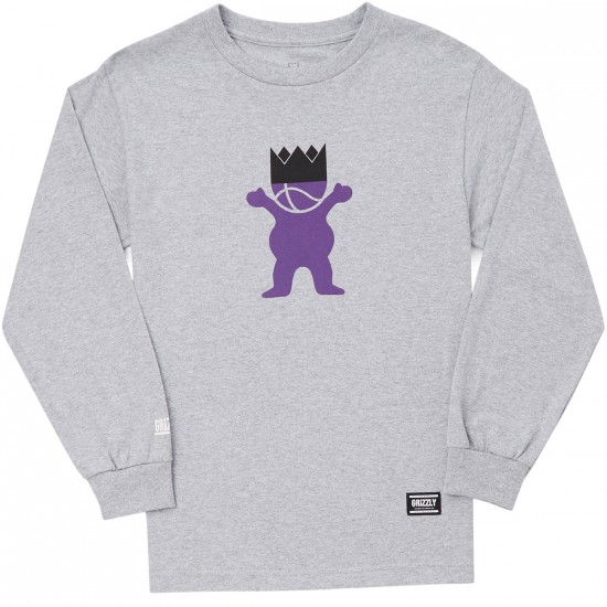 Grizzly Biebel Long Sleeve T-Shirt - Heather Grey