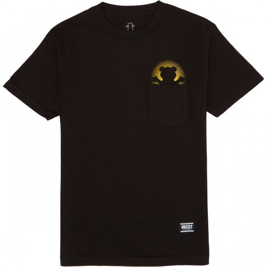 Grizzly Day Off Pocket T-Shirt - Black