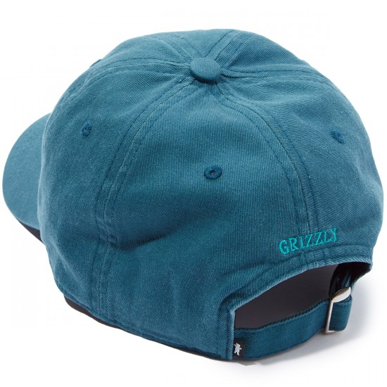 Grizzly Mini Bear Strapback 6 Panel Hat - Teal