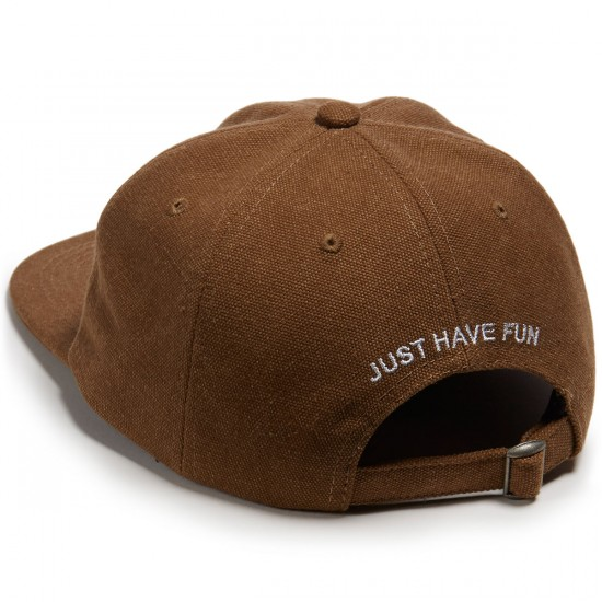 Just Have Fun Unconstructed Strapback Hat - Brown