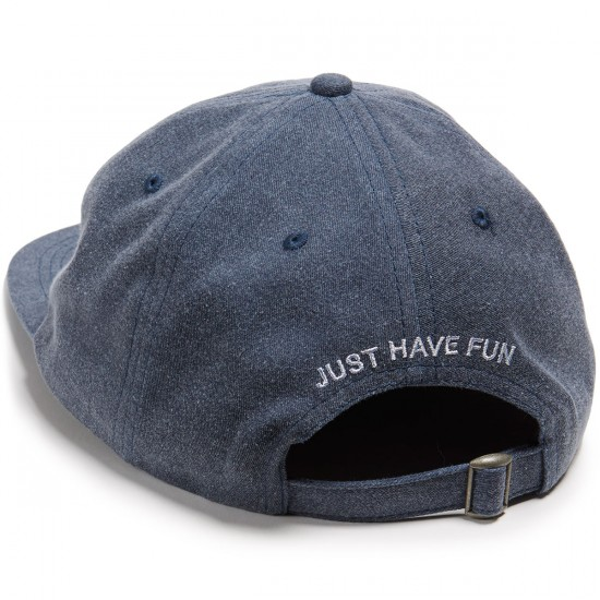 Just Have Fun Unconstructed Strapback Hat - Navy